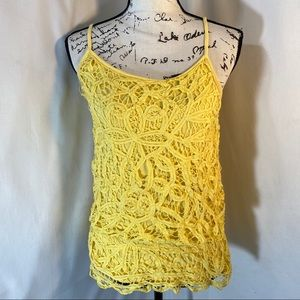 INC Lace Front Spaghetti Strap Stretchy Blouse S